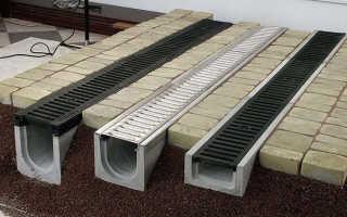 Лотки для ливневой канализации — виды бетонных, пластиковых и металлических конструкций