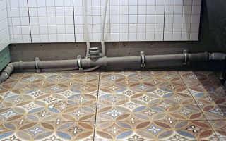 Крепление канализационных труб к стене — технология по правилам
