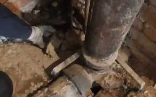 Ремонт чугунных труб канализации — способы и варианты