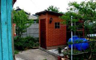 Туалет на даче из кирпича – технология строительства с учетом нюансов возведения