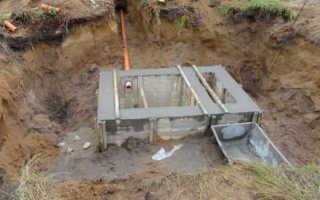 Септик из бетона своими руками — правила устройства