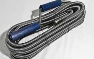 Трос для прочистки канализационных труб – разновидности, насадки и способ удаления грязевой пробки