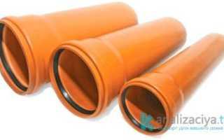 Трубы ПВХ для наружной канализации: виды, размеры и цены