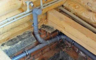 Укладка канализационных труб в частном доме своими руками