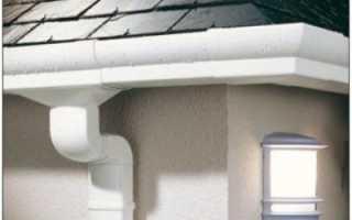 Монтаж водосточной системы из пластика