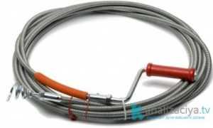 Трос для чистки канализационных труб: как выбрать и цена