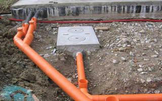 Устройство наружной канализации — варианты схемы монтажа