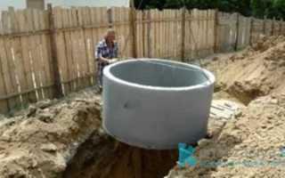 Устройство выгребной ямы из бетонных колец: схемы, этапы работы и рекомендации