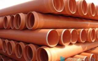 Оранжевая (рыжая) канализационная труба: виды, размеры и цены