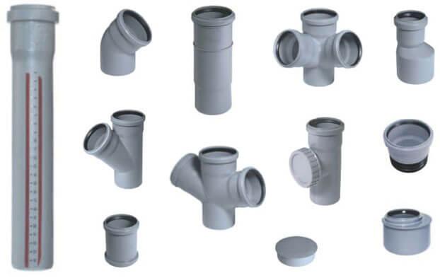 фитинги для канализационных труб пвх