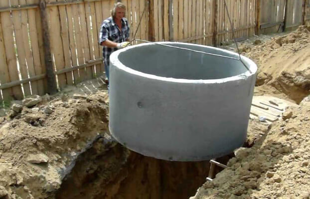 как правильно сделать септик из бетонных колец
