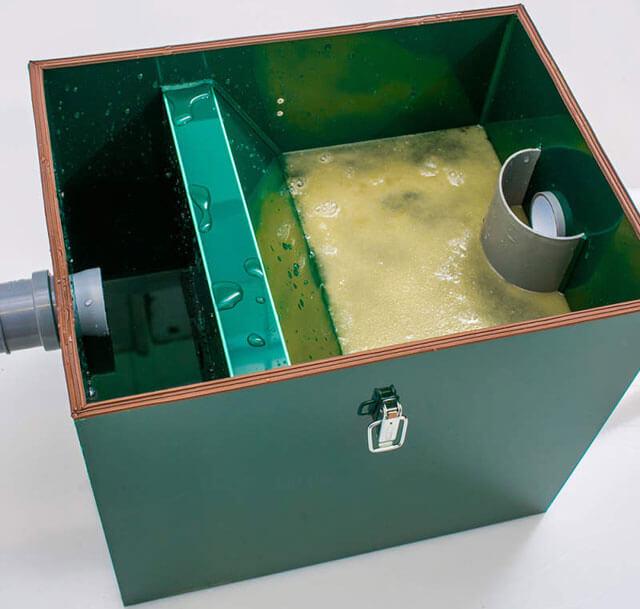 установка жироуловителя под мойку