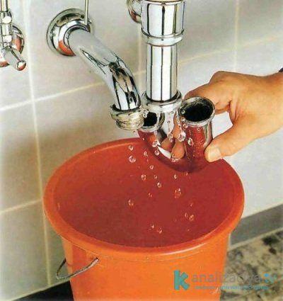 Прочистка канализационной трубы