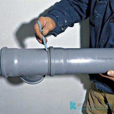 Установка пластиковой трубы