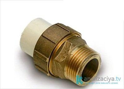 Соединение чугунной и пластиковой трубы при помощи фитингов