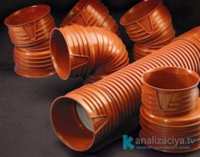 Гофрированные трубы и фитинги для внутренней канализации