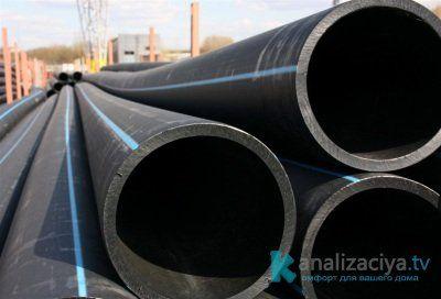 Внешние канализационные ПНД трубы