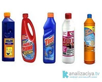 Химические средства для промывки канализационных труб
