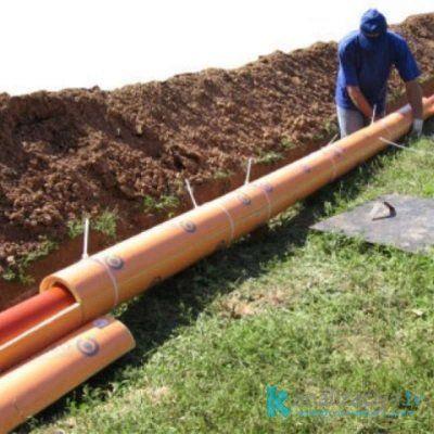 Установка канализационной трубы 300 мм