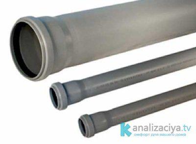 Пластиковые канализационные трубы с раструбом