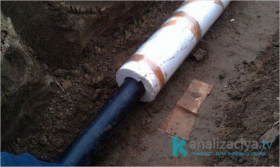 Монтаж теплоизоляции канализационных труб