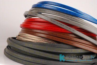 Разные виды кабелей для обогрева канализационных труб