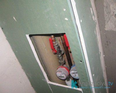Конструкция для закрытия труб в туалете из гипсокартона