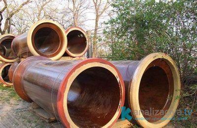 Керамические канализационные трубы с раструбом