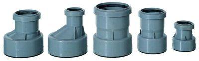 Разные типы переходников для канализационных труб