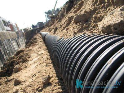 Внешние канализационные трубы