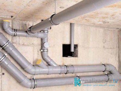 Внутренние канализационные трубы