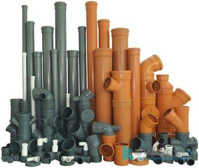 Разные типы канализационных труб