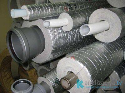 Утеплитель труб канализации