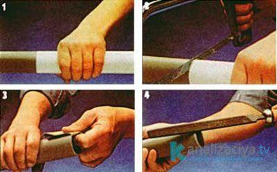 Процесс демонтажа пластиковой трубы