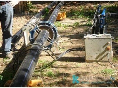 Контактная сварка труб внешней канализации