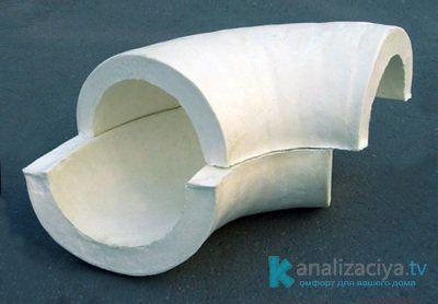 Скорлупа для утепления канализационных труб