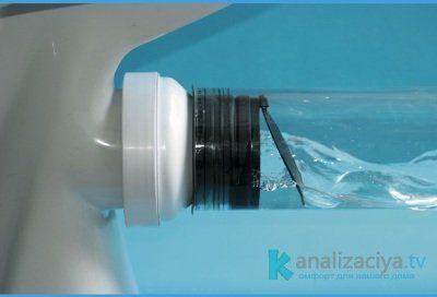 Обратный клапан после установки