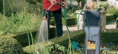 Полив огорода при помощи погружного дренажного насоса
