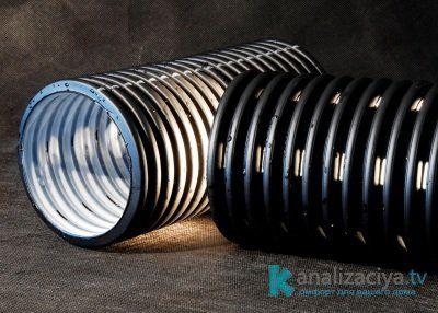 Гофрированная дренажная труба с перфорацией