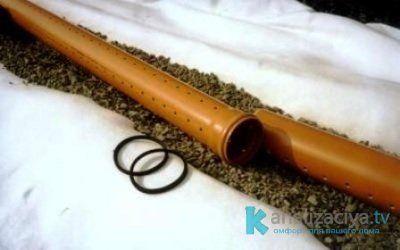 Дренажная керамическая труба в геотекстиле
