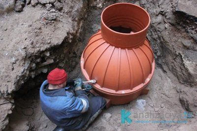 Водоприемный (накопительный) дренажный колодец