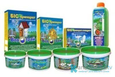 Средства для выгребных ям и туалетов с живыми бактериями