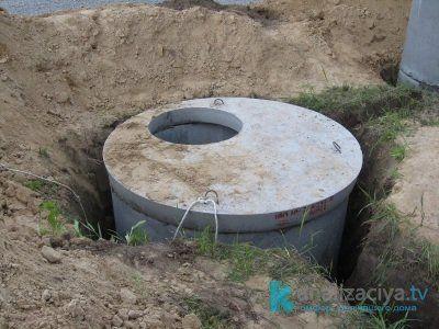 Бетонная емкость для выгребной ямы