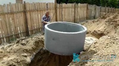 Особенности выгребной ямы из бетонных колец
