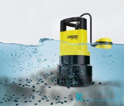 Принцип работы дренажного насоса с поплавком выключателем