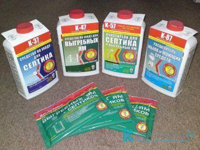 Химические средства для очистки выгребных ям