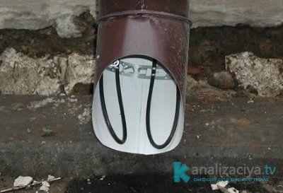 Как осуществляется подогрев водосточных труб?