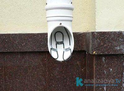 Обогрев водосточной трубы кабелем