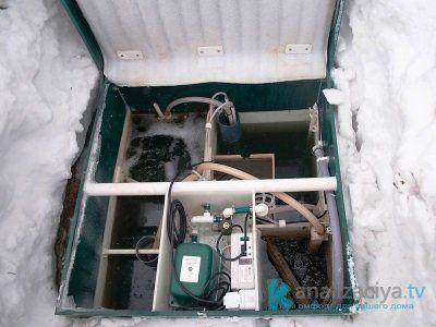 Как септик Топас работает зимой?