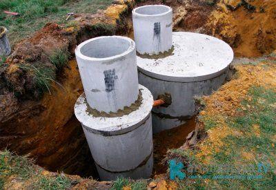 Этапы монтажа септика из бетонных колец
